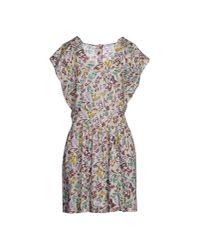 Miu Miu - Gray Short Dress - Lyst