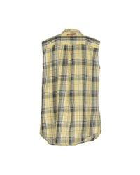 Replay - Yellow Shirt - Lyst