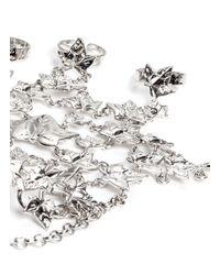 Alexander McQueen | Metallic Ivy Leaf Hand Jewellery | Lyst