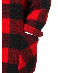 Étoile Isabel Marant - Red Plaid Wool Flannel Coat - Lyst