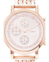 Forever 21 - Metallic Chronograph Analog Watch You've Been Added To The Waitlist - Lyst