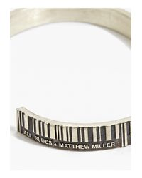 All_blues | Metallic X Matthew Miller Marked Silver/black Bangle for Men | Lyst