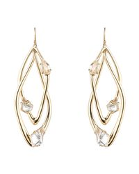 Alexis Bittar - Metallic Gold Liquid Crystal Orbiting Earring - Lyst