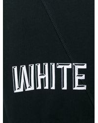 Off-White c/o Virgil Abloh - Black Logo Print Sweatshirt for Men - Lyst