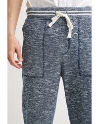 Forever 21 - Blue Marled Varsity-stripe Sweatpants for Men - Lyst