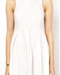 Mademoiselle Tara - White Cotton Pique Dress With Collar - Lyst