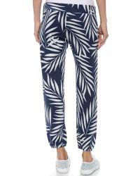 Monrow - White Palm Print Vintage Sweatpants - Bone - Lyst