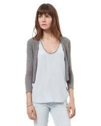 Rebecca Taylor - Gray Easy Open Cardigan - Lyst