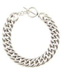 Saint Laurent - Metallic Chain Necklace - Lyst