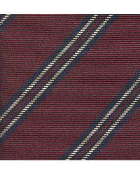Kingsman - Purple + Drake's Striped Silk Tie for Men - Lyst