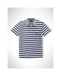 Polo Ralph Lauren | Blue Striped Cotton Jersey Polo for Men | Lyst