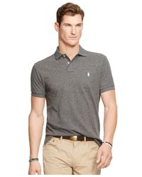 Polo Ralph Lauren | Black Custom-fit Mesh Polo Shirt for Men | Lyst