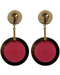 Marni - Purple Red Resin Sphere Earrings - Lyst