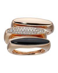 Michael Kors | Pink Semi Precious 3 Stack Ring | Lyst