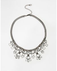 Lipsy | Metallic Dark Space Collar Necklace | Lyst