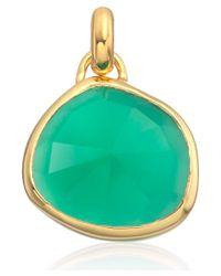 Monica Vinader | Metallic Gold Vermeil Green Onyx Siren Bezel Pendant | Lyst