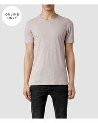 AllSaints   Gray Figure Crew T-shirt for Men   Lyst