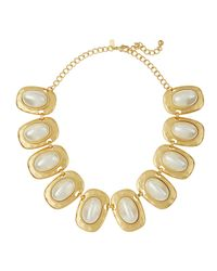 Kenneth Jay Lane | White Golden Pearly Link Necklace | Lyst