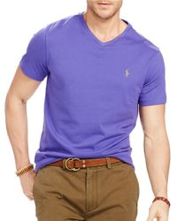 Polo Ralph Lauren | Purple V-neck Tee for Men | Lyst