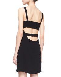 T By Alexander Wang - Black Cutout Bandeau Crepe Dress - Lyst