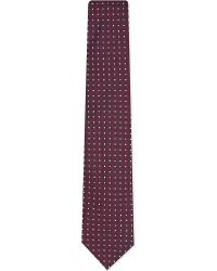 Eton of Sweden | Contrast Spot Micro Chequered Silk Tie for Men | Lyst