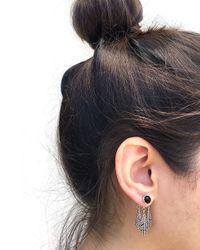 Pamela Love | Black Frida Ear Jacket In Sterling Silver & Onyx | Lyst