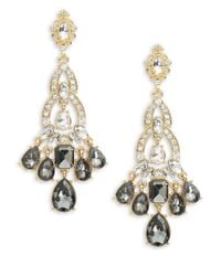 Cara | Metallic Teardrop Chandelier Earrings | Lyst