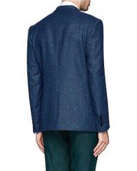 Paul Smith - Green Herringbone Wool Tweed Blazer for Men - Lyst