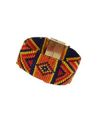 TOPSHOP | Multicolor Tribal Pattern Beaded Bracelet | Lyst