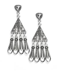 R.j. Graziano | Metallic Triangle Chandelier Earrings | Lyst