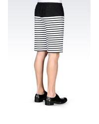 Emporio Armani | White Bermuda Shorts In Striped Cotton for Men | Lyst