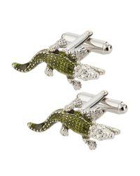 Link Up - Green Lizard Cuff Links - Lyst