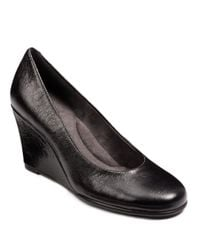 Aerosoles | Black Plum Tree Wedges | Lyst