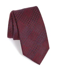 Brioni | Red Plaid Silk & Wool Tie for Men | Lyst