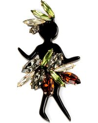 Marni | Green Strass Brooch - For Women | Lyst