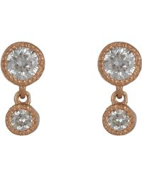 Tate | Pink Diamond Double-drop Earrings | Lyst