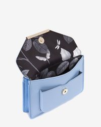 Ted Baker - Blue Patent Crosshatch Cross Body Bag - Lyst