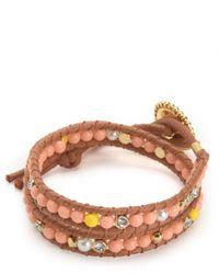 Juicy Couture | Multicolor Double Wrap Beaded Bracelet | Lyst