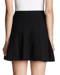 1.STATE   Black Flounce Cotton Mini Skirt   Lyst
