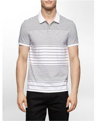 Calvin Klein | White Label Slim Fit Engineered Stripe Polo Shirt for Men | Lyst