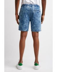 Forever 21 | Blue Acid Wash Denim Shorts for Men | Lyst