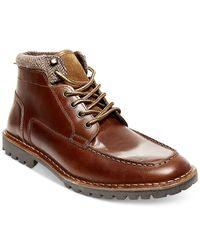 Steve Madden | Brown Herringbone Collar Desert Boots for Men | Lyst