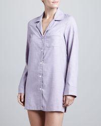 Cusp - Purple Audrey Cotton Nightshirt - Lyst