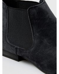 TOPMAN | Black Suedette Chelsea Boots for Men | Lyst