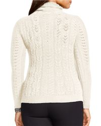 Lauren by Ralph Lauren | Natural Plus Wool-cashmere Turtleneck Sweater | Lyst