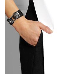 Balenciaga | Black Palladium-tone Karung Cuff | Lyst