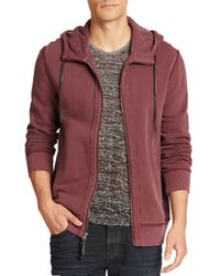 Madison Supply - Purple Cotton Zip-up Hoodie for Men - Lyst