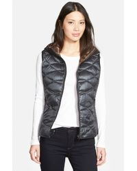 Bernardo | Black Reversible Hooded Down & Primaloft Fill Vest | Lyst