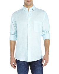 Mine - Blue Linen Shirt for Men - Lyst