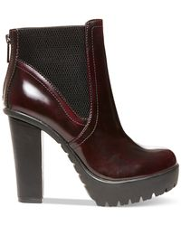 Steve Madden | Purple Amandaa Lug Bottom Platform Booties | Lyst